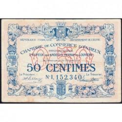 Evreux (Eure) - Pirot 57-18 - 50 centimes- Chiffre 1 - 28/10/1920 - Etat : TTB-
