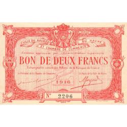 Le Havre - Pirot 68-16a - 2 francs - 1916 - Etat : SPL