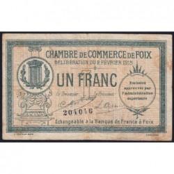 Foix - Pirot 59-10 - 1 franc - 02/02/1915 - Etat : TB-
