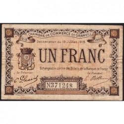 Granville - Pirot 60-4 - 1 franc - 19/07/1915 - Etat : TB