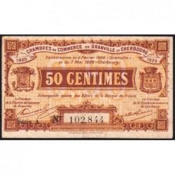 Granville / Cherbourg - Pirot 61-1 - 50 centimes - Série A - 06/02/1920 - Etat : TB+