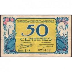 Grenoble - Pirot 63-14 - 50 centimes - Série EK - 08/11/1917 - Etat : TB+