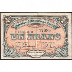 Gueret (Creuse) - Pirot 64-20 - 1 franc - Série B - 5e émission - 14/02/1920 - Etat : TB+