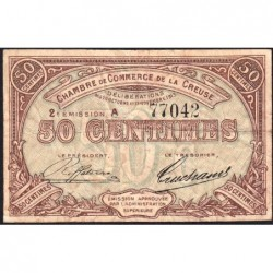 Gueret (Creuse) - Pirot 64-7 - 50 centimes - Série A - 2e émission - 26/10/1915 - Etat : TB