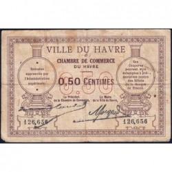 Le Havre - Pirot 68-1 - 50 centimes - Sans date - Etat : B+