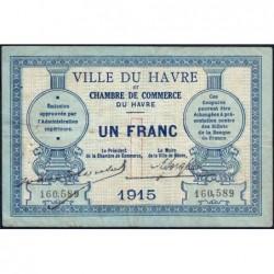 Le Havre - Pirot 68-10 - 1 franc - 1915 - Etat : TB