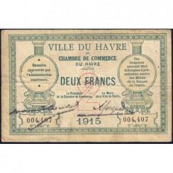 Le Havre - Pirot 68-12 - 2 francs - 1915 - Etat : TB
