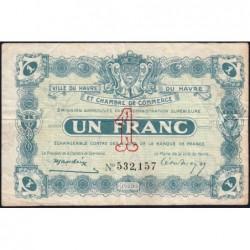 Le Havre - Pirot 68-22 - 1 franc - 15/01/1920 - Etat : TB+
