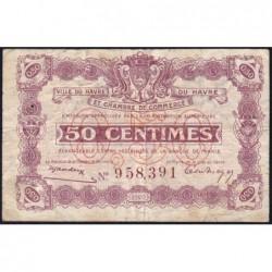 Le Havre - Pirot 68-26 - 50 centimes- 18/08/1920 - Etat : TB