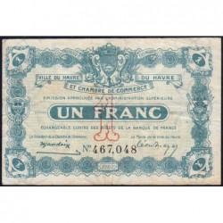 Le Havre - Pirot 68-28 - 1 franc - 18/08/1920 - Etat : TTB-