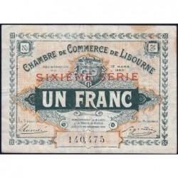 Libourne - Pirot 72-30 - 1 franc - Sixième série - 12/03/1920 - Etat : TB+