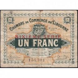 Libourne - Pirot 72-30 - 1 franc - Sixième série - 12/03/1920 - Etat : TB-