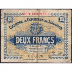 Libourne - Pirot 72-34 - 2 francs - Septième série - 23/09/1920 - Etat : B+