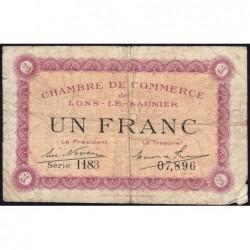 Lons-le-Saunier - Pirot 74-13 - 1 franc - Série 1183 - Sans date - Etat : B+
