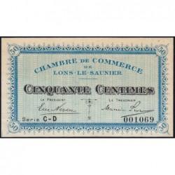 Lons-le-Saunier - Pirot 74-17 - 50 centimes - Série CD - Sans date - Etat : SUP+ à SPL
