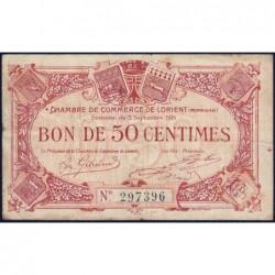 Lorient (Morbihan) - Pirot 75-4 - 50 centimes - Sans Série - 03/09/1915 - Etat : TB