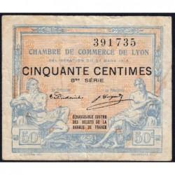 Lyon - Pirot 77-16 - 50 centimes - 8me série - 27/03/1918 - Etat : TB