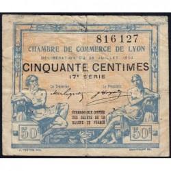 Lyon - Pirot 77-22 - 50 centimes - 17e série - 29/07/1920 - Etat : TB-