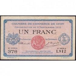 Lyon - Pirot 77-6 - 1 franc - 2e série 378- 09/09/1915 - Etat : TB+
