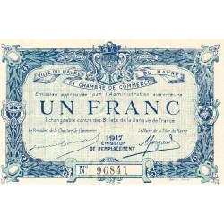 Le Havre - Pirot 68-18b - 1 franc - 1917 - Etat : pr.NEUF
