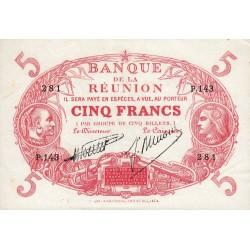La Réunion - Pick 14-7 - 5 francs - 1938 - Etat : SUP+