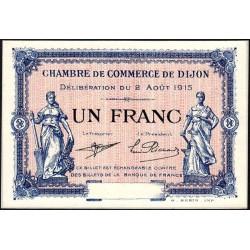 Dijon - Pirot 53-6 - 1 franc - Sans série - 02/08/1915 - Spécimen - Etat : NEUF