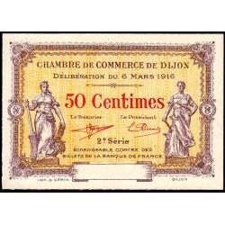 Dijon - Pirot 53-8 - 50 centimes - 2e série - 06/03/1916 - Spécimen - Etat : NEUF