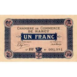 Nancy - Pirot 87-8 - 1 franc - Série FFF - 01/01/1916 - Etat : SUP