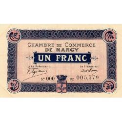 Nancy - Pirot 87-8 - 1 franc - Série OOO - 01/01/1916 - Etat : SUP+