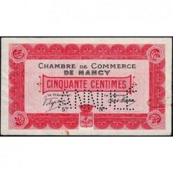 Nancy - Pirot 87-2 - 50 centimes - Sans série - 09/09/1915 - Annulé - Etat : TTB