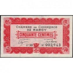 Nancy - Pirot 87-10 - 50 centimes - Série 5O - 01/12/1916 - Etat : TTB+