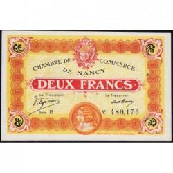 Nancy - Pirot 87-25 - 2 francs - Série B - 11/11/1918 - Etat : SUP+