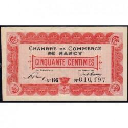 Nancy - Pirot 87-37 - 50 centimes - Série 19G - 01/01/1920 - Etat : TTB+