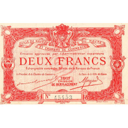 Le Havre - Pirot 68-19 - 2 francs - 1917 - Etat : pr.NEUF