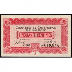 Nancy - Pirot 87-46 - 50 centimes - Série 30U - 01/01/1921 - Etat : SUP