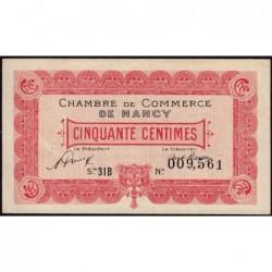 Nancy - Pirot 87-47 - 50 centimes - Série 31B - 01/01/1921 - Etat : SUP