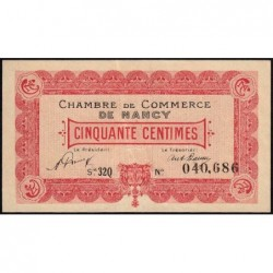 Nancy - Pirot 87-48 - 50 centimes - Série 32Q - 01/01/1921 - Etat : TTB