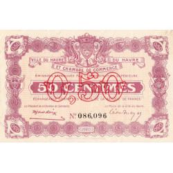 Le Havre - Pirot 68-20 - 50 centimes - 15/01/1920 - Etat : SPL