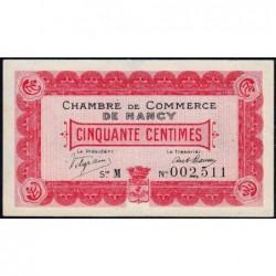 Nancy - Pirot 87-1 - 50 centimes - Série M - 09/09/1915 - Etat : TTB+