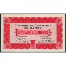 Nancy - Pirot 87-1 - 50 centimes - Série Q - 09/09/1915 - Etat : TTB+