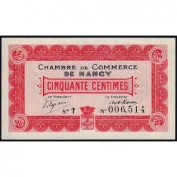 Nancy - Pirot 87-1 - 50 centimes - Série T - 09/09/1915 - Etat : SPL+