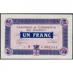 Nancy - Pirot 87-3 - 1 franc - Série H - 09/09/1915 - Etat : SPL