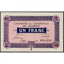 Nancy - Pirot 87-50 - 1 franc - Série 28O - 01/01/1921 - Etat : NEUF