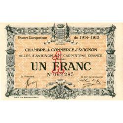 Avignon - Pirot 18-5 - 1 franc - 11/08/1915 - Etat : SPL