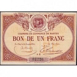 Nantes - Pirot 88-8 - 1 franc - Série AE - Sans date - Etat : TTB+