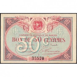 Nantes - Pirot 88-16 - 50 centimes - Série Z - Sans date - Etat : TTB+