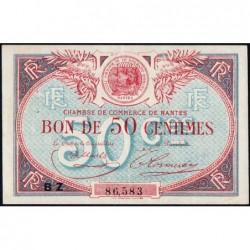 Nantes - Pirot 88-24b - 50 centimes - Série BX - Sans date - Etat : SUP