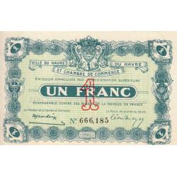 Le Havre - Pirot 68-22 - 1 franc - 15/01/1920 - Etat : pr.NEUF