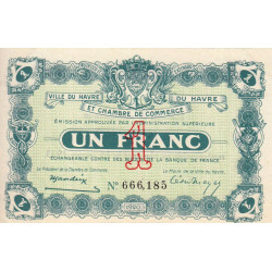 Le Havre - Pirot 68-22 - 1 franc - 1920 - Etat : pr.NEUF