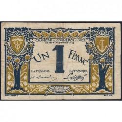 Nice - Pirot 91-05a - 1 franc - Série 8 - 25/04/1917 - Etat : TB